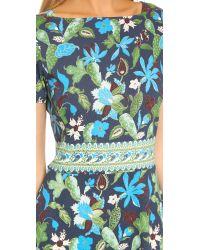 Tory Burch - Blue Flare Dress - Lyst