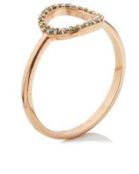 Aamaya By Priyanka | Pink Rose Gold Vermeil O Ring | Lyst