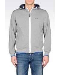 Armani Jeans - Blue Reversible Blouson In Nylon And Fleece for Men - Lyst