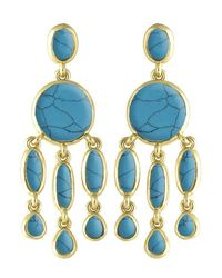 Karen Kane | Blue Baja Chandelier Earrings | Lyst