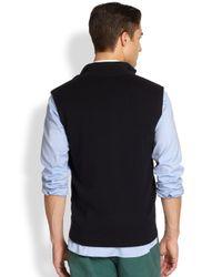 Façonnable - Blue Wool Cotton Vest for Men - Lyst