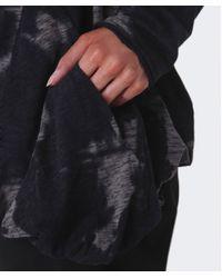 Rundholz - Gray Ink Print Curved Hem Top - Lyst