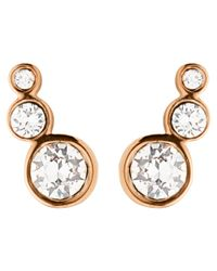 Dyrberg/Kern | Pink Dyrberg/kern Small Swarovski Crystal Stud Earrings | Lyst