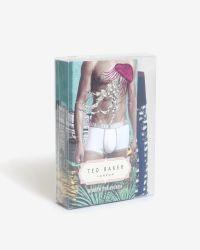 Ted Baker - Blue Swan Print Boxer Shorts for Men - Lyst