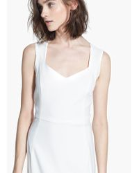 Mango White Fitted Dress