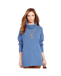 Polo Ralph Lauren - Blue Merino Wool Turtleneck Sweater - Lyst