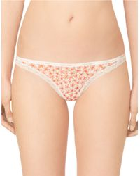 Calvin Klein - Orange Bottoms Up Thong - Lyst