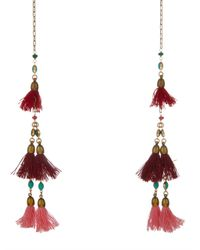 Isabel Marant Metallic Mild Tassel Wrap Necklace