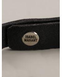 Isabel Marant - Black Plaited Bracelet - Lyst