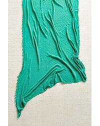 Urban Outfitters - Green Raw-edge Jersey Scarf - Lyst