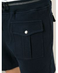 Michael Bastian - Blue Pocketed Sweat Shorts for Men - Lyst