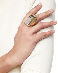 St. John | Metallic Two-tone Pearly Stud Ring | Lyst