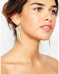 ASOS | Metallic Occasion Swing Tassel Earrings | Lyst