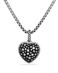 David Yurman Metallic Midnight Mélange Heart Pendant With Diamonds