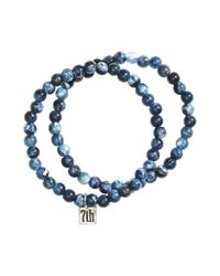H&M | Blue 2-Pack Bracelets for Men | Lyst