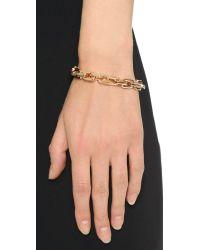 Eddie Borgo | Pink Small Link Bracelet - Rose Gold | Lyst