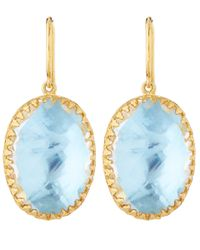 Larkspur & Hawk | Light Blue Topaz Lily Drop Earrings | Lyst