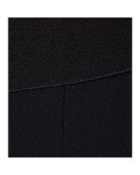 Roland Mouret Black Eugene Double Wool Crepe Top