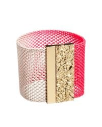 Ashiana | Neon Pink and Gold Cuff Bracelet | Lyst