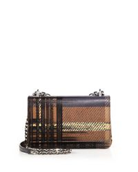 Prada | Brown Saffiano Medium Tartan-print Shoulder Bag | Lyst