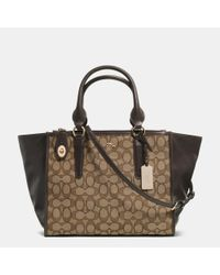 COACH | Metallic Crosby Carryall In Signature Jacquard | Lyst