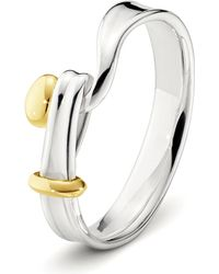 Georg Jensen - Metallic Torun 18ct Yellow-gold And Sterling Silver Ring - Lyst