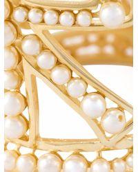 Dolce & Gabbana   Metallic Amore Pearl Cuff   Lyst