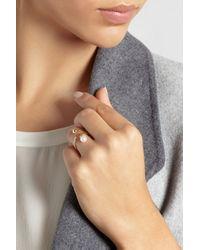 Sophie Bille Brahe Metallic Perle 14-Karat Gold Pearl Ring