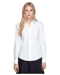 Brooks Brothers - White Non-Iron Tailored Fit Stripe Dress Shirt - Lyst