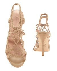 Joie - Natural Tonni Lace-up Rope Suede Sandal - Lyst