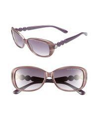 Marc By Marc Jacobs - 56mm Sunglasses - Purple/ Dark Grey Gradient - Lyst