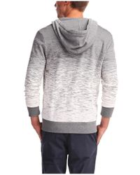 BOSS Orange | Gray 'zoda' Cotton Sweatshirt Jacket for Men | Lyst
