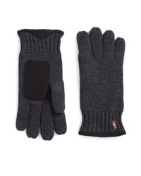 Polo Ralph Lauren | Gray Merino Wool Gloves for Men | Lyst