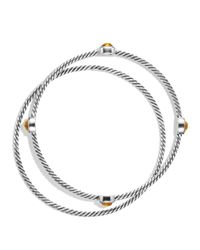 David Yurman Metallic Color Classics Bangles With Citrine
