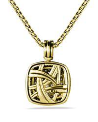 David Yurman | Metallic Albion Pendant with Diamonds in Gold | Lyst