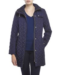 Cole Haan - Blue Signature Quilted Jacket - Lyst
