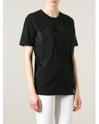 Stella McCartney - Black Flower Appliqué T-shirt - Lyst