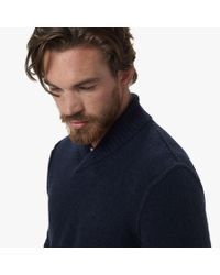 James Perse | Blue Merino Blend Pullover Sweater for Men | Lyst
