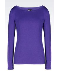 EA7 - Purple Long Sleeved T-shirt - Lyst