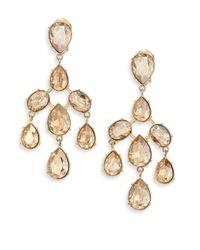 Oscar de la Renta | Metallic Floating Crystal Earrings | Lyst