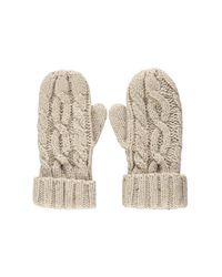 Forever 21 - Natural Cable Knit Mittens - Lyst