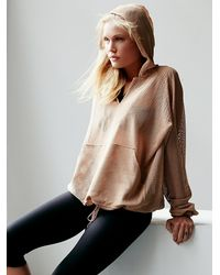 Free People - Pink Just Breathe Billowing Hoodie - Lyst