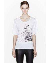 Helmut - White Spark Print T_shirt - Lyst