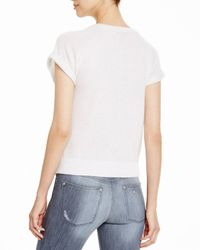 Aqua | Gray Cashmere Cashmere Roll Sleeve Sweatshirt | Lyst