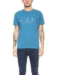 Han Kjobenhavn | Blue Embroidered Logo Tee for Men | Lyst
