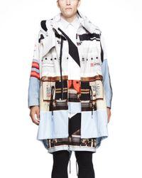 Givenchy - Black Speakerprint Long Parka Jacket for Men - Lyst