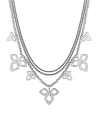 Lucky Brand | Metallic Diamond-shaped Cluster Necklace | Lyst