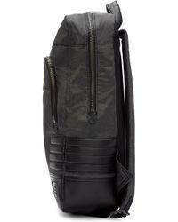 DIESEL Gray Grey Urban Backpack for men