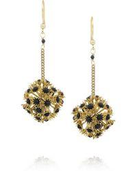 Rosantica | Metallic Soffioni Gold-Dipped Onyx Drop Earrings | Lyst