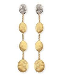 Marco Bicego | Metallic Dangling 18k Gold Earrings With Diamonds | Lyst